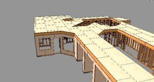 建方中の2×4住宅見てきました。